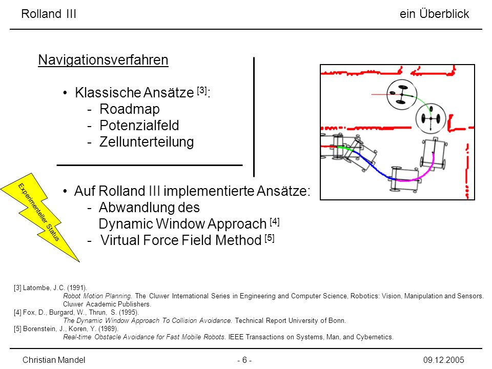 Klassische Ansätze [3]: Roadmap Potenzialfeld Zellunterteilung